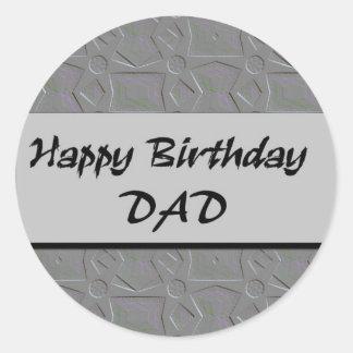 Happy Birthday DAD Classic Round Sticker