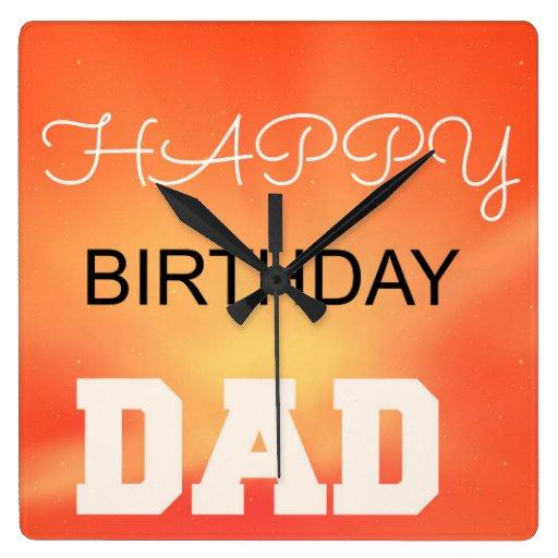 Happy Birthday Dad Wallclock