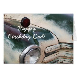 Happy Birthday Dad Custom Truck greeting card