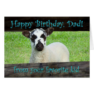Happy Birthday Dad from Your Favorite Kid Card