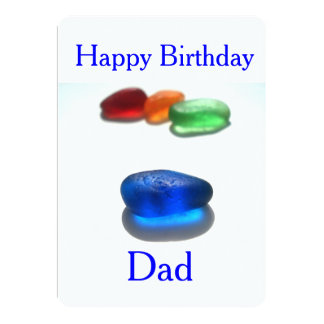 Happy Birthday Dad 5x7 Paper Invitation Card