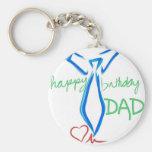 happy  birthday dad key chain