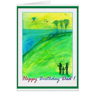 Happy Birthday Dad - kites Stationery Note Card