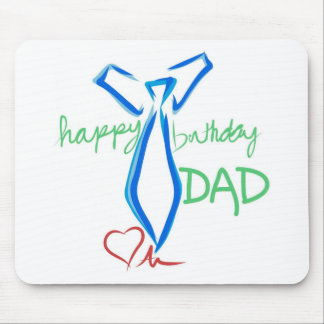 happy birthday dad mouse pads