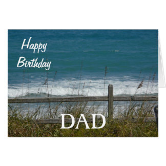 Happy Birthday DAD-Ocean Waves Card