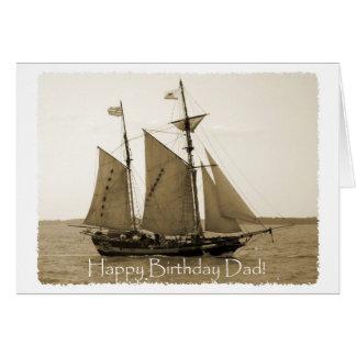 Happy Birthday Dad - Old Ship Card