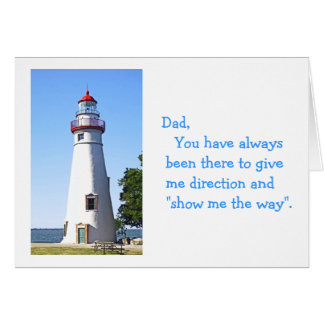 """Happy Birthday Dad"", photo of lighthouse Card"