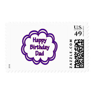 Happy Birthday Dad Postage Stamp