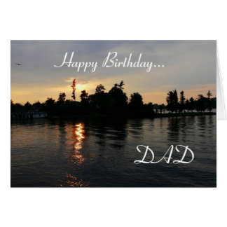 Happy Birthday Dad!-Thousand Island Sunset Card