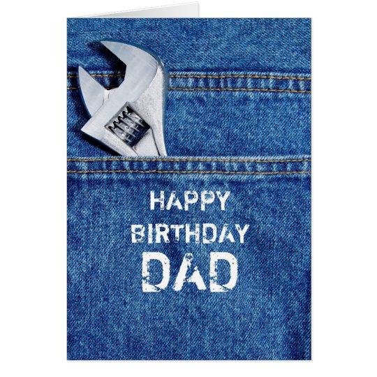 Happy Birthday Dad Tool Card