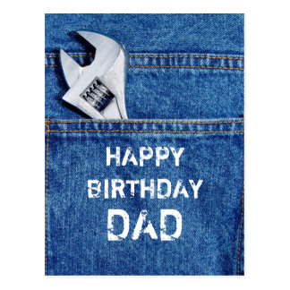 Happy Birthday Dad Tool Postcard