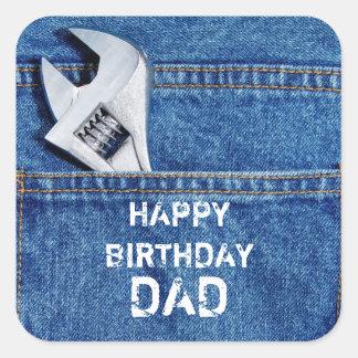 Happy Birthday Dad Tool Sticker