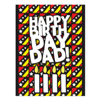 Happy Birthday DAD! with birthdays candles Postcard