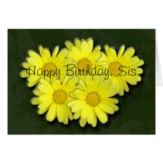 Happy Birthday Daises Greeting Card