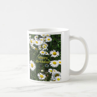 Happy Birthday Daisies Coffee Mug