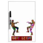 Happy Birthday Dance Dry Erase Boards