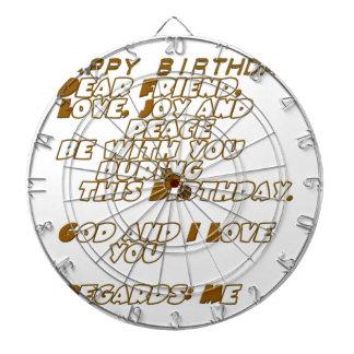 Happy Birthday Dartboard
