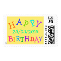 Happy Birthday - Date Postal Stamp