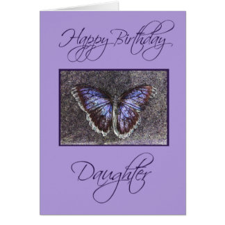 Happy Birthday Daughter-Butterfly/purple Card