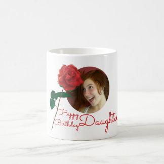 Happy Birthday daughter custom photo text mug
