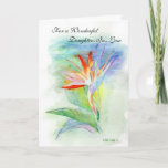 "Happy Birthday Daughter-in-Law Card<br><div class=""desc"">Original drawing done in watercolor pencil by Linda Ginn.  It's hard to find that perfect card isn't it?  Hopefully my cards will be just what you are looking for.</div>"