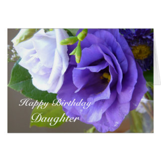 Happy Birthday-Daughter/Purple Flowers Card