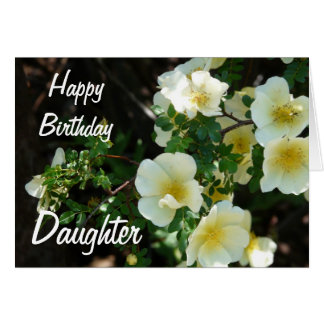 Happy Birthday Daughter-Yellow Floral Card