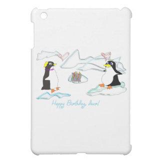 Happy birthday, dear! Cute pinguins, fish -cake Cover For The iPad Mini