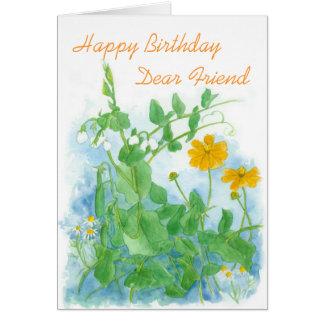 Happy Birthday Dear Friend Card Sugar Snap Peas