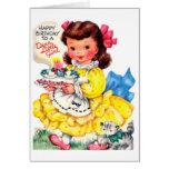 Happy Birthday - Dear Little Girl Greeting Card