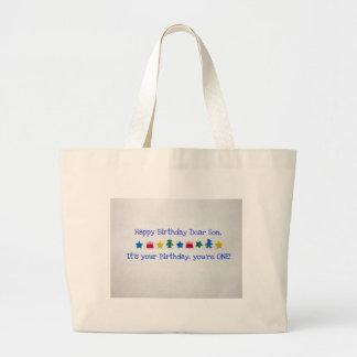 Happy Birthday Dear Son Large Tote Bag