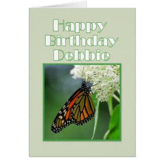 Happy Birthday Debbie Monarch Butterfly Card