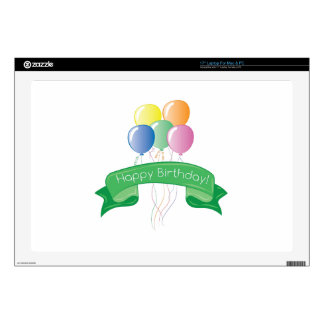"""Happy Birthday Decal For 17"""" Laptop"""