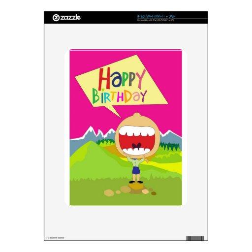 Happy Birthday Decal For iPad
