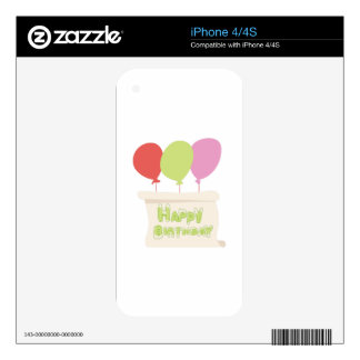 Happy Birthday Decal For The iPhone 4