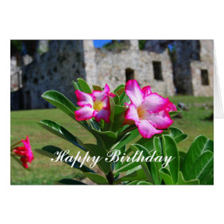 Happy Birthday Desert Rose Flowers at Sugar Mill Card