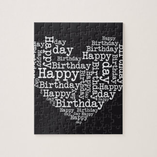 Happy birthday design jigsaw puzzle
