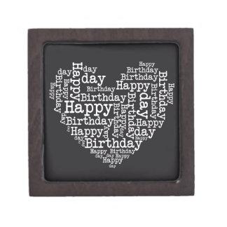 Happy birthday design keepsake box