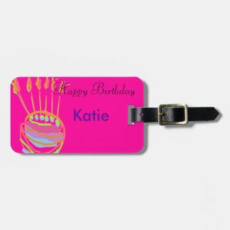 Happy Birthday Design Bag Tag