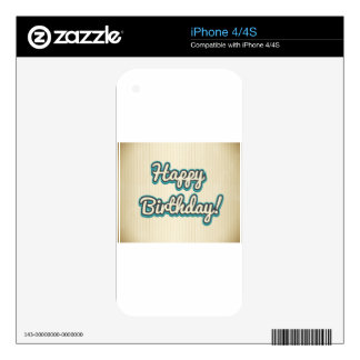 Happy Birthday design Skins For iPhone 4