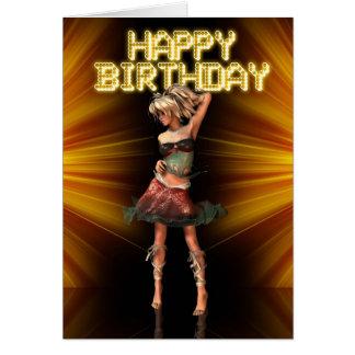 Happy Birthday Deva female birthday on the stage Cards