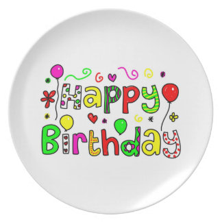 Happy Birthday Dinner Plate