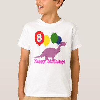 Happy Birthday Dinosaur 8 Years Balloons T-Shirt