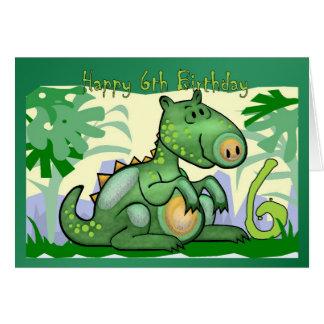 Happy Birthday Dinosaur Card 6th Birthday