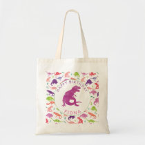 Happy Birthday Dinosaur Personalized Girls T-Rex Tote Bag