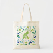 Happy Birthday Dinosaur Personalized Kids T-Rex Tote Bag