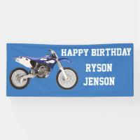 Happy Birthday Dirt Bike Child's Birthday Banner