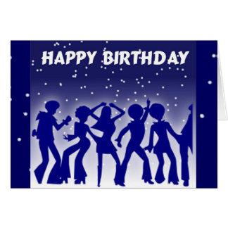Happy Birthday Disco Dancers Card