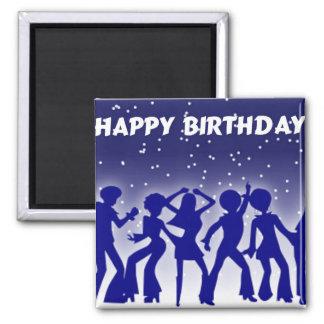 Happy Birthday Disco Dancers Magnet