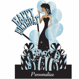Happy Birthday Diva Girl | DIY Name | Aqua Cutout